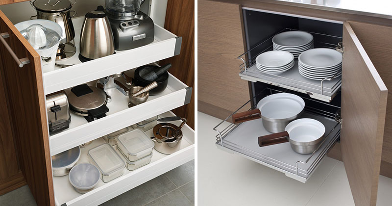 Pull-Out Drawers In Kitchen Cabinets
