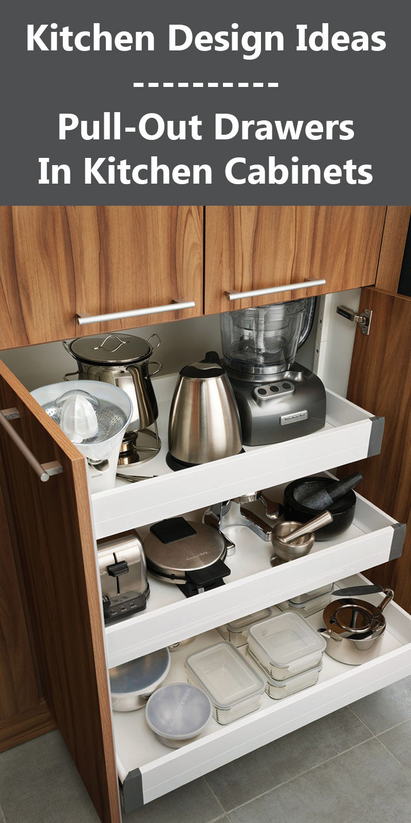 Kitchen Design Ideas - Pull-Out Drawers In Kitchen Cabinets