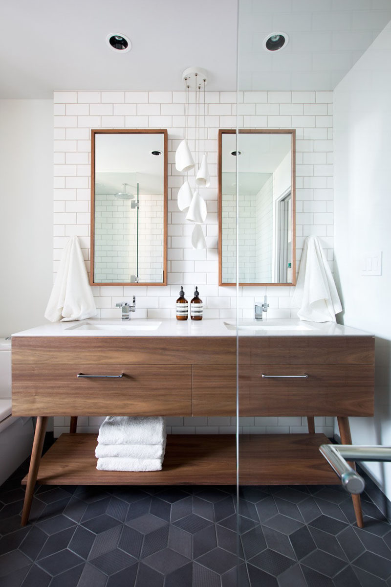 5 bathroom mirror ideas for a double vanity contemporist 5 bathroom mirror ideas for a double vanity two rectangular mirrors adds height to publicscrutiny Image collections