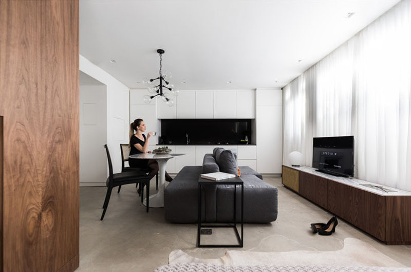 This 430 Square Foot Brazilian Apartment Makes The Most Of Its Small Layout