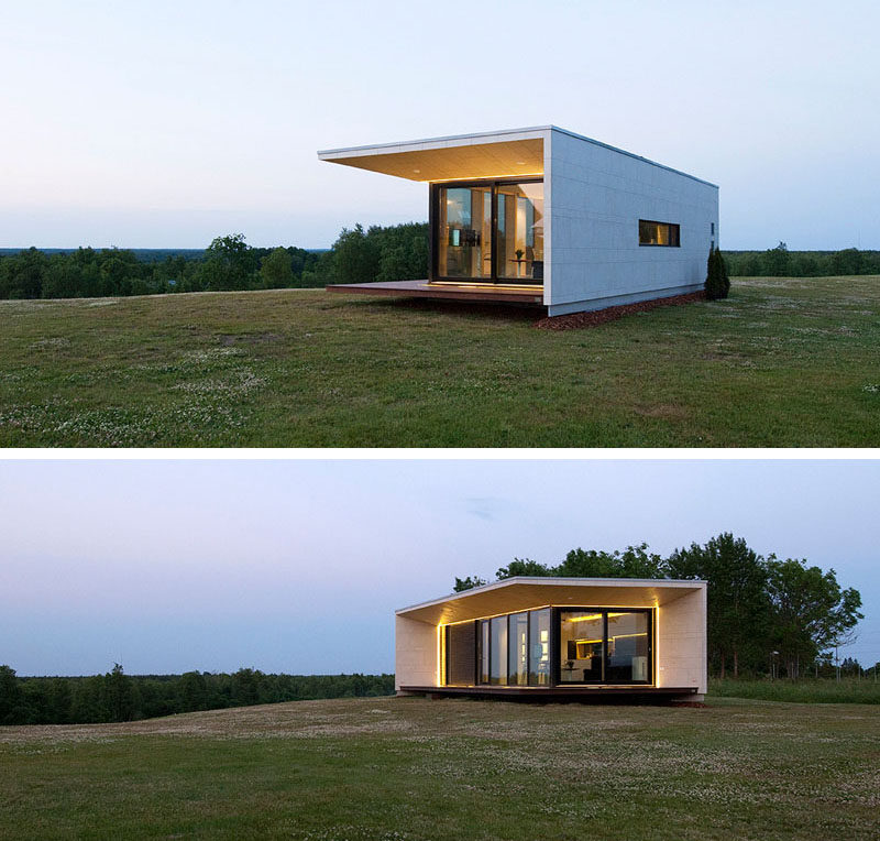 11 Small Modern House Designs // This small single level home features a modern  design