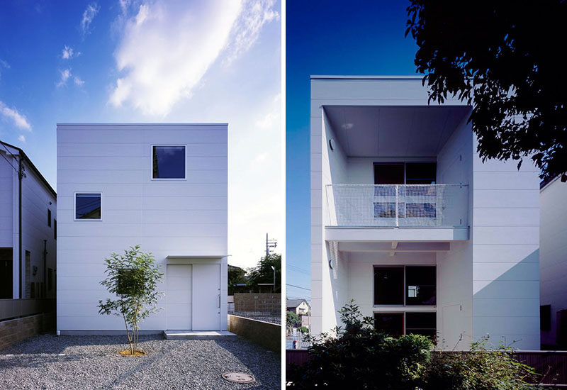 11 Small Modern House Designs // Despite its tiny size, this modest family home stands out from the others on the street with it's clean simple design and low maintenance yard.
