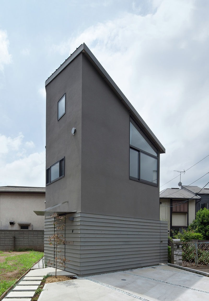 11 Small Modern House Designs // What this small house lacks in width, it