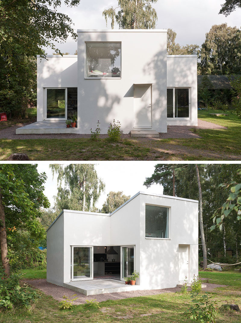 11 small modern house designs the bright white color of this small summer house