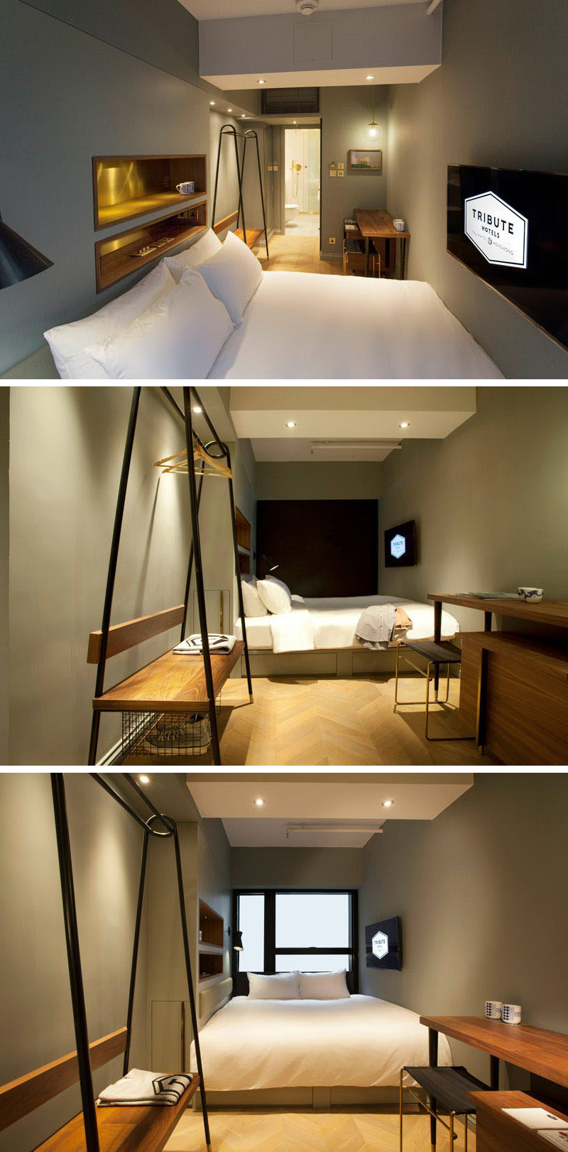8 small hotel rooms that maximize their tiny space | contemporist