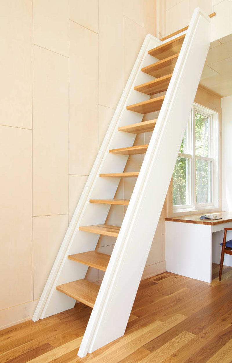 13 Stair Design Ideas For Small Spaces // A Super Vertical Staircase, Like  This