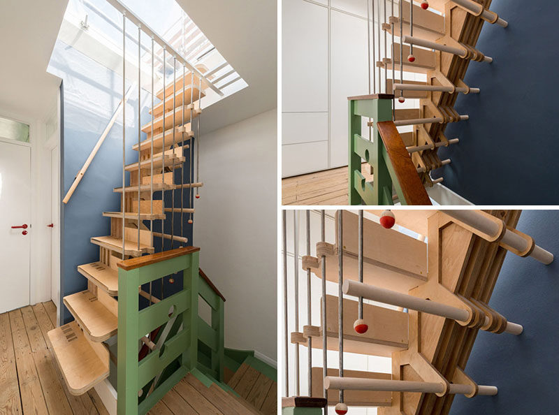 13 Stair Design Ideas For Small Spaces // These Tall Narrow Stairs Are Made  From