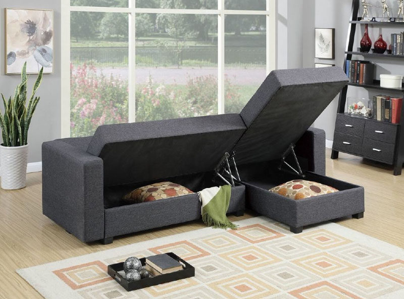 10 Small Living Room Ideas // Have your furniture double as storage items.