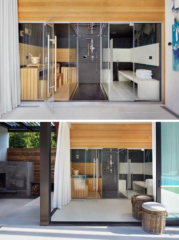 Bathroom Design Idea - Create a Spa-Like Bathroom At Home // Include a steam room or sauna.
