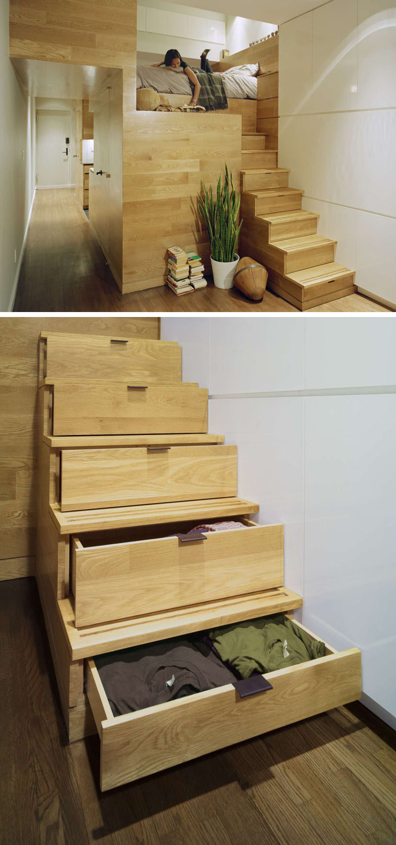13 stair design ideas for small spaces contemporist for Great ideas for small apartments