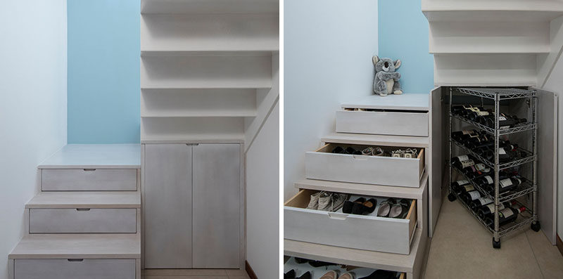Stairs Design Idea – Hide Shoe And Wine Storage Within Your Stairs