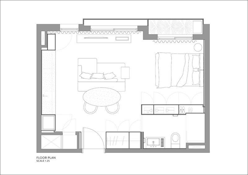 Apartment Design Layout this 430 square foot apartment makes the most of its small layout