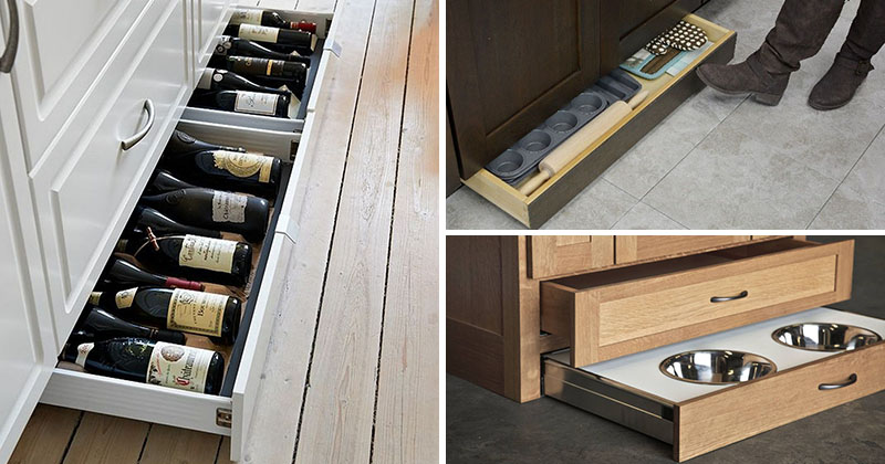 Kitchen Design Idea - Include Toe Kick Drawers In Your ...