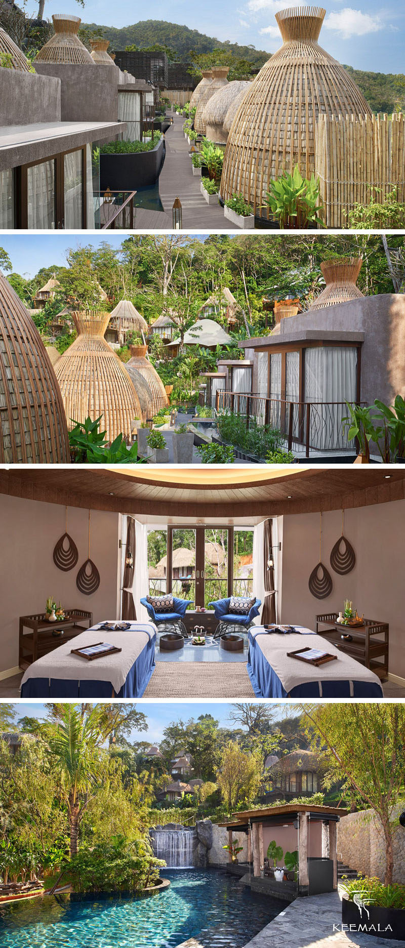 Travel Idea - The Keemala resort in Phuket, Thailand, has luxurious amenities including a spa and a large pool complete with swim up bar