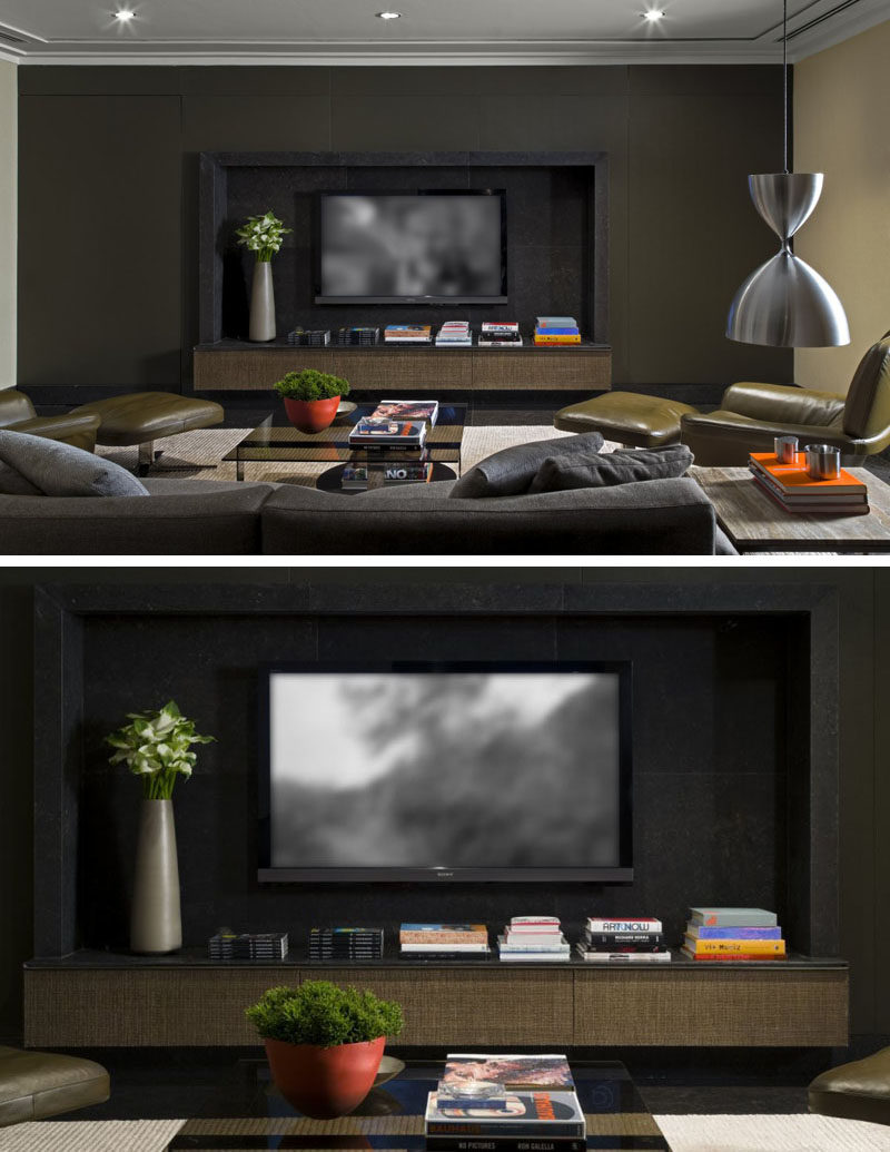 8 tv wall design ideas for your living room contemporist for Decor systems