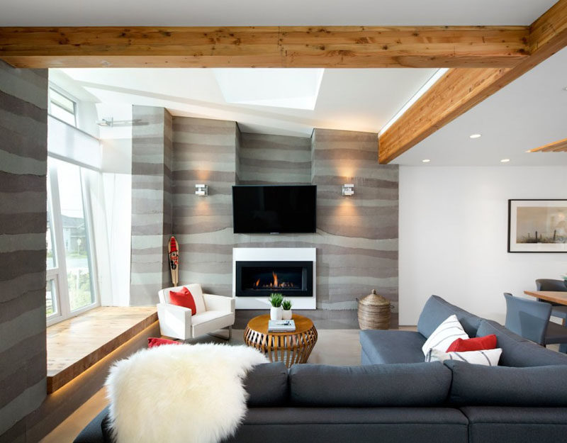 Nice 8 TV Wall Design Ideas For Your Living Room // This TV Sits Just Above