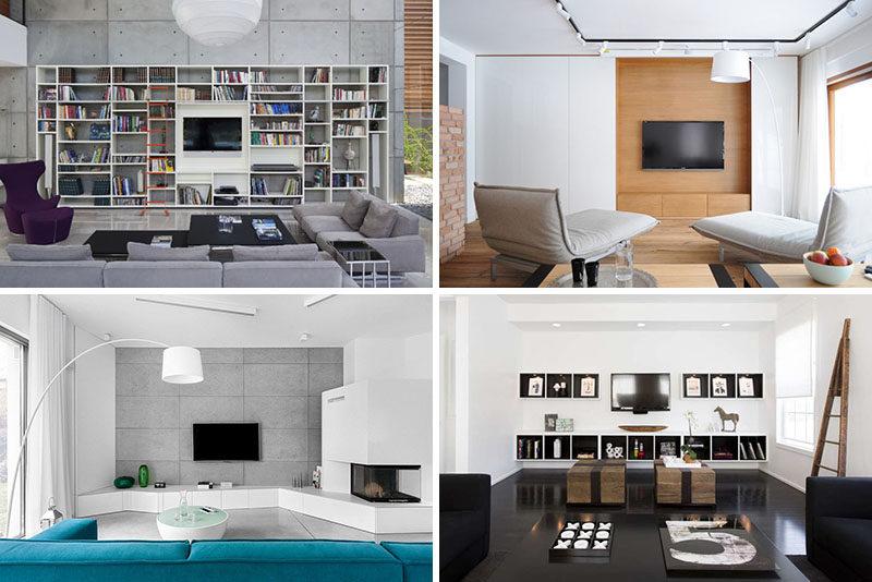 living room tv ideas 8 TV Wall Design Ideas For Your Living Room | CONTEMPORIST living room tv ideas