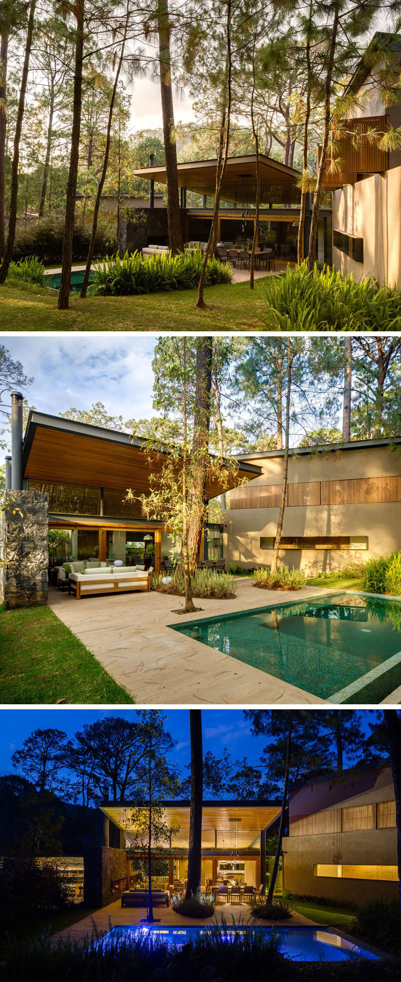 18 Modern House In The Forest // This house was part of a development designed to work with the environment instead of against it and to compliment the surrounding forest vegetation. #ModernHouse #ModernArchitecture #HouseInForest #HouseDesign