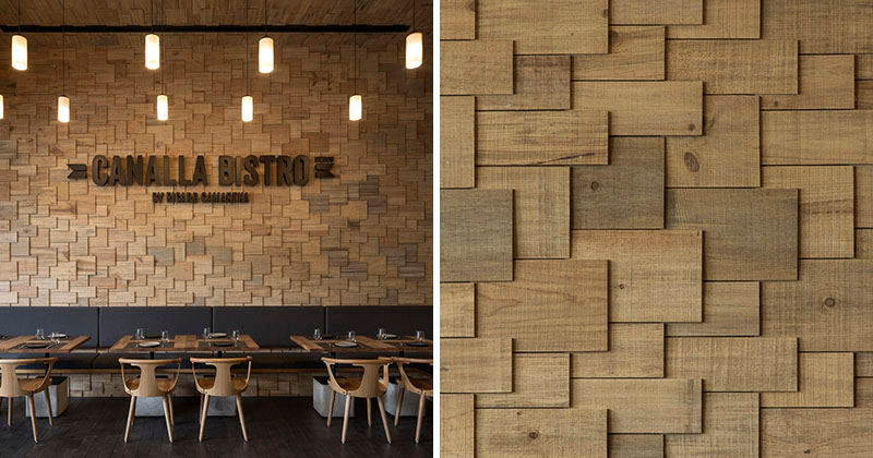 The Walls Of This Restaurant Are Covered In Wood Shingles