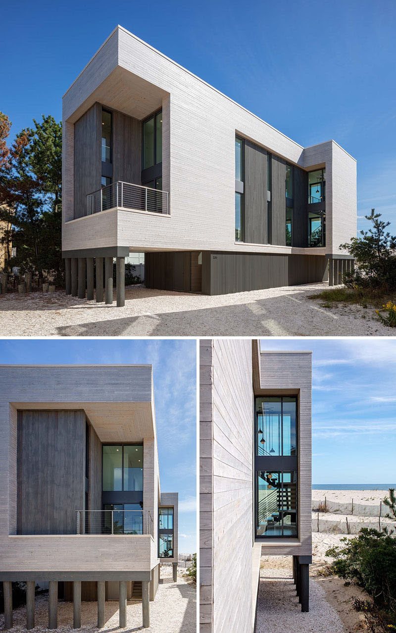 Specht Architects have designed this new modern house on Long Island Beach in New Jersey, that's a replacement for a home that was destroyed in Hurricane Sandy in 2012.