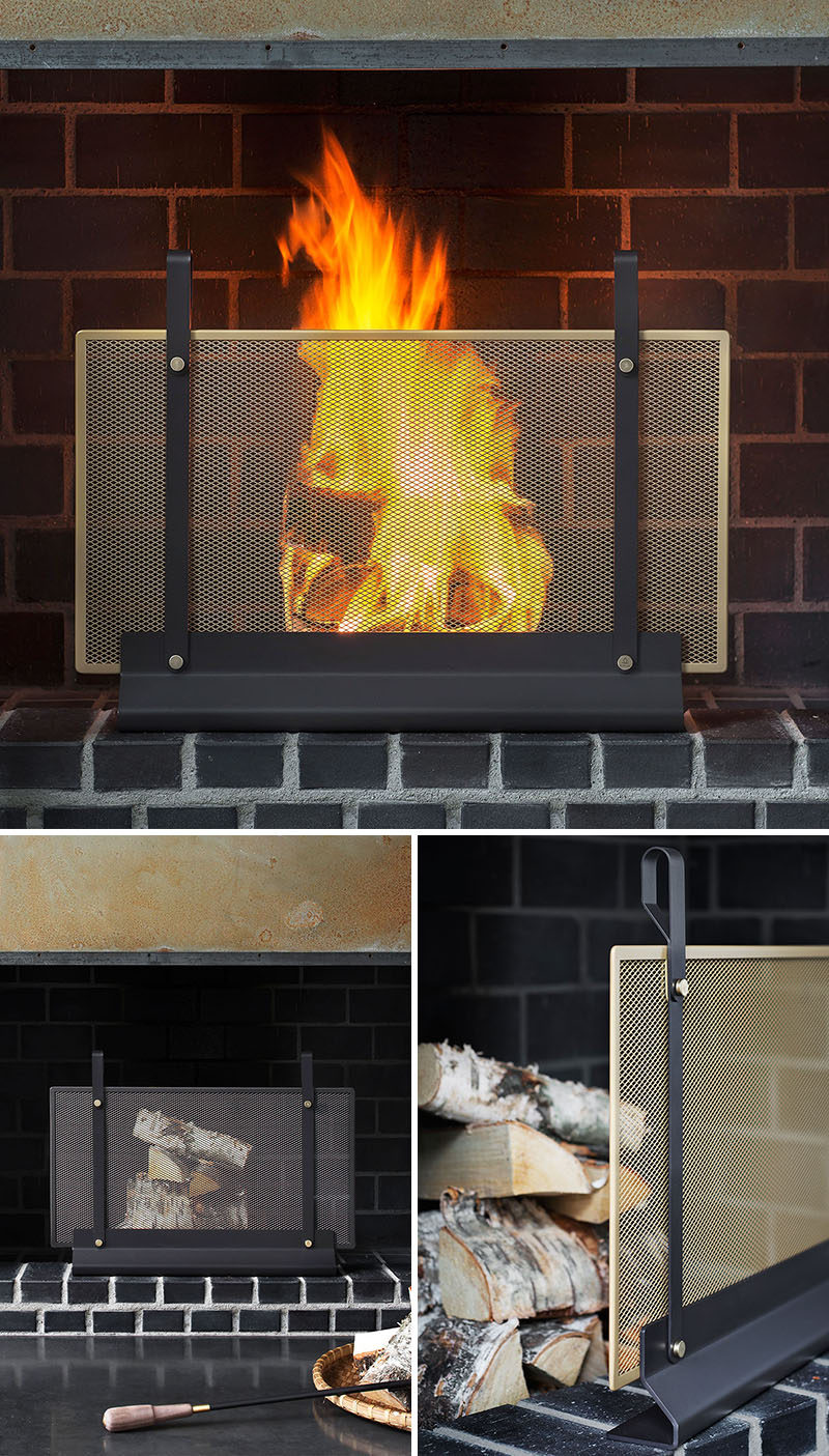 these new contemporary scandinavian fireplace accessories are