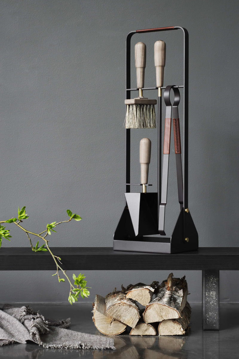 These New Contemporary Scandinavian Fireplace Accessories