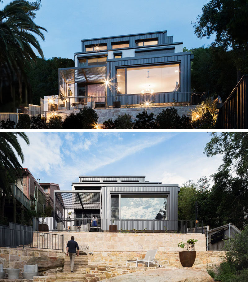 TW Architects have shared with us a multi-level house that they designed in Sydney, Australia, that's located on a steep site with a 49 foot (15m) drop.