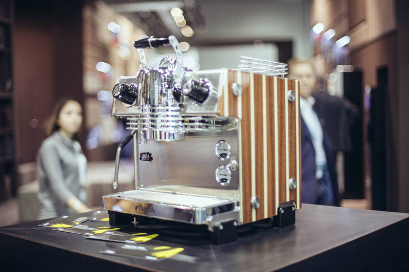13 Modern Gift Ideas For Coffee Connoisseurs // This sleek countertop espresso machine has a number of smart features that probably means it's smarter than the person making the coffee.