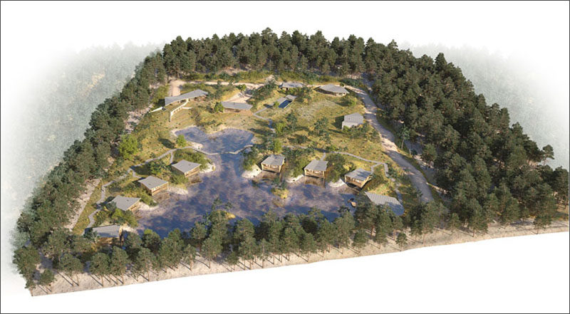 This Eco-Holiday Resort is located in Saubion, France, and features individual villas.