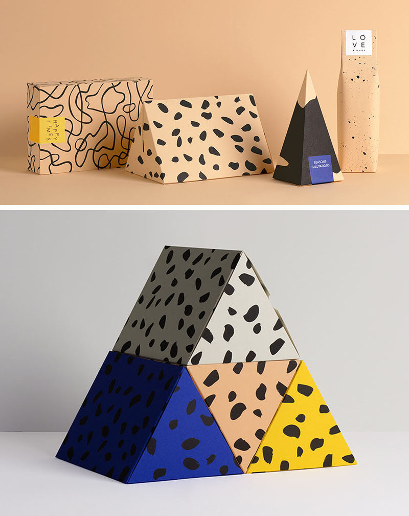 Bold Graphics And Fun Shapes Take These Modern Gift Boxes To The Next Level