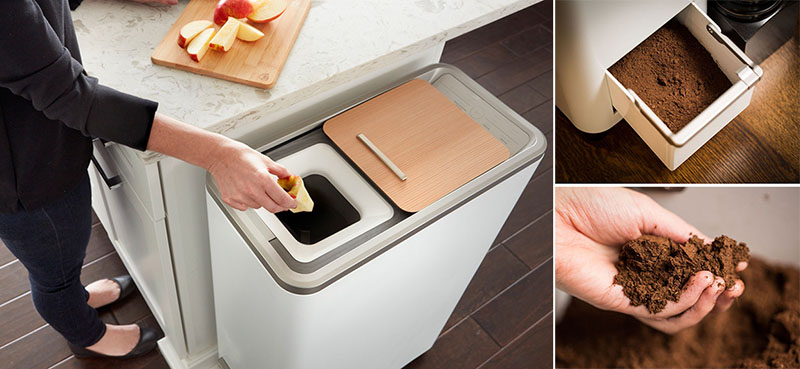 This Easy Indoor Compost System Turns Food Scraps Into Fertilizer In 24  Hours | CONTEMPORIST