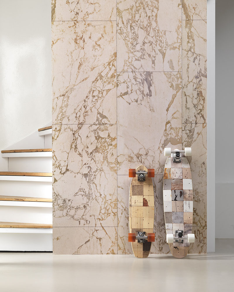 8 Examples Of Modern Marble Wallpaper // This marble wallpaper has various tones in it to create an authentic textured look.