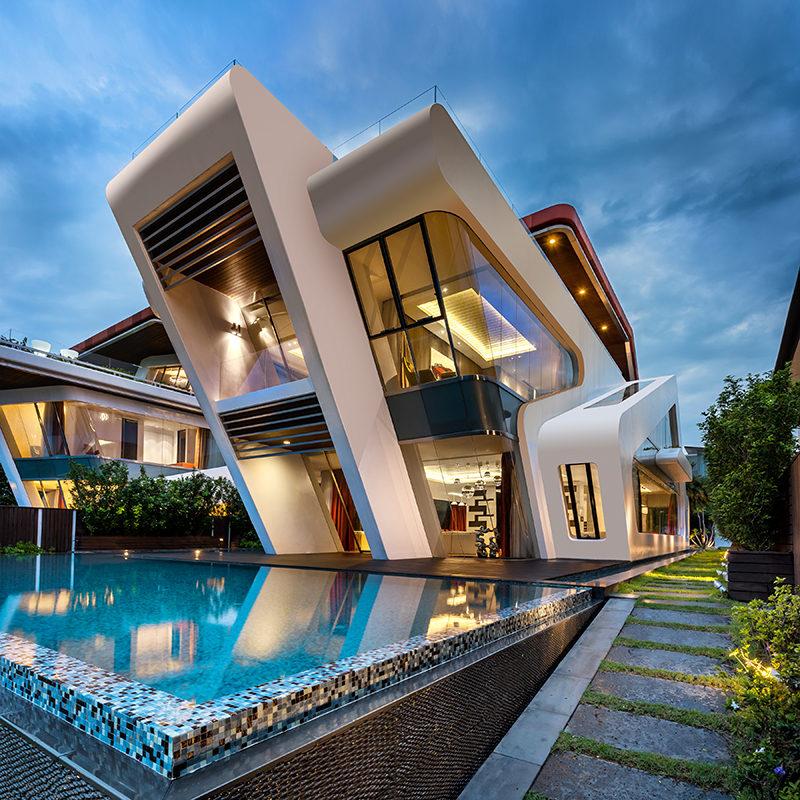 Mercurio Design Lab have designed this home named Villa Mistral.
