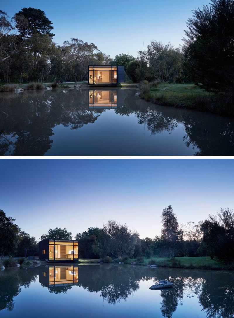 Branch Studio Architects have designed this small multi-purpose modern backyard studio can be a home office, an entertaining space or guest house.