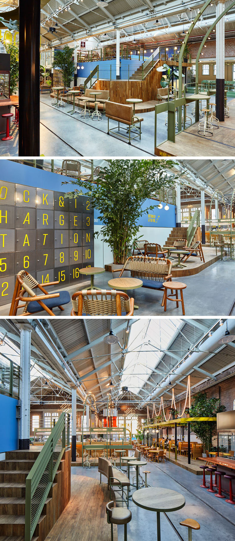 This restaurant and bar in Amsterdam can be found in a renovated tram depot.