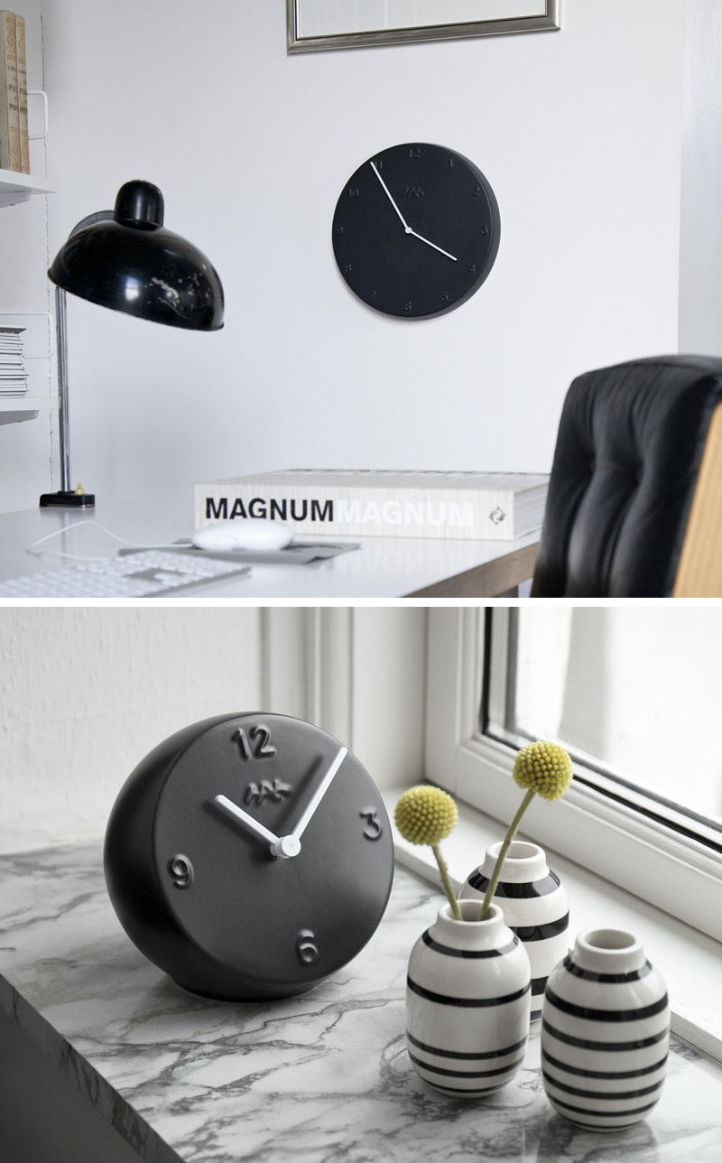 Matte black clocks will make sure you always keep your eyes on the time.
