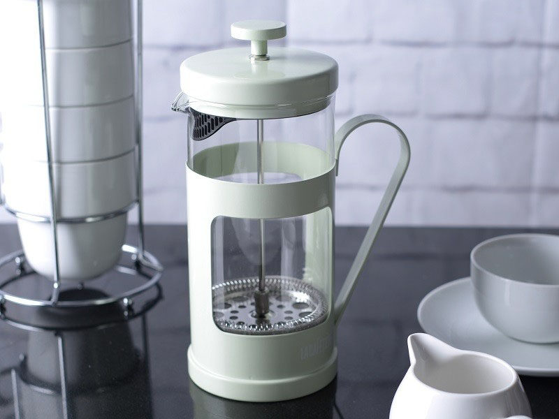 17 Modern Coffee Makers That You'll Want To Show Off // Start your mornings with this pastel colored French press coffee maker and you're sure to have a stellar day.