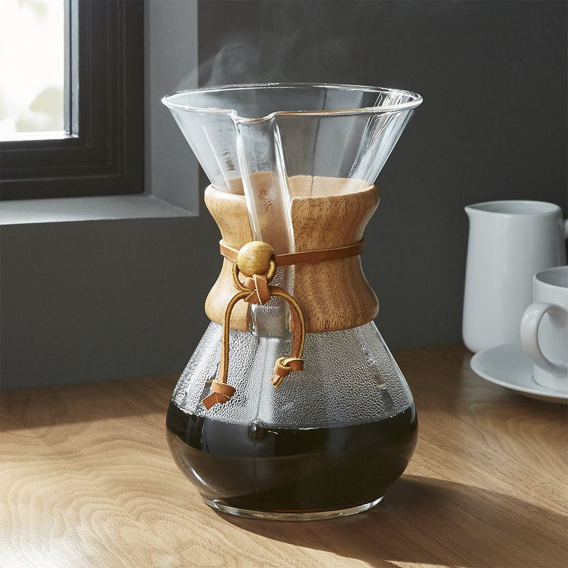 17 Modern Coffee Makers That You'll Want To Show Off // The iconic Chemex coffee maker has become a staple in many kitchens for it's reputation of making a great cup of coffee and looking good while doing it.