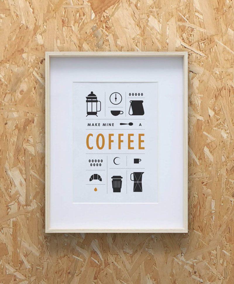 15 Coffee Posters To Hang Above Your Coffee Station // Hang this simple graphic above your coffee station to remind you of the elements required to make the perfect cup.