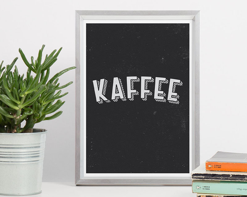 15 Coffee Posters To Hang Above Your Coffee Station // Shout your love of coffee from the walls with this modern coffee graphic poster. #CoffeeStation #CoffeePoster #CoffeeWallArt #CoffeeArt