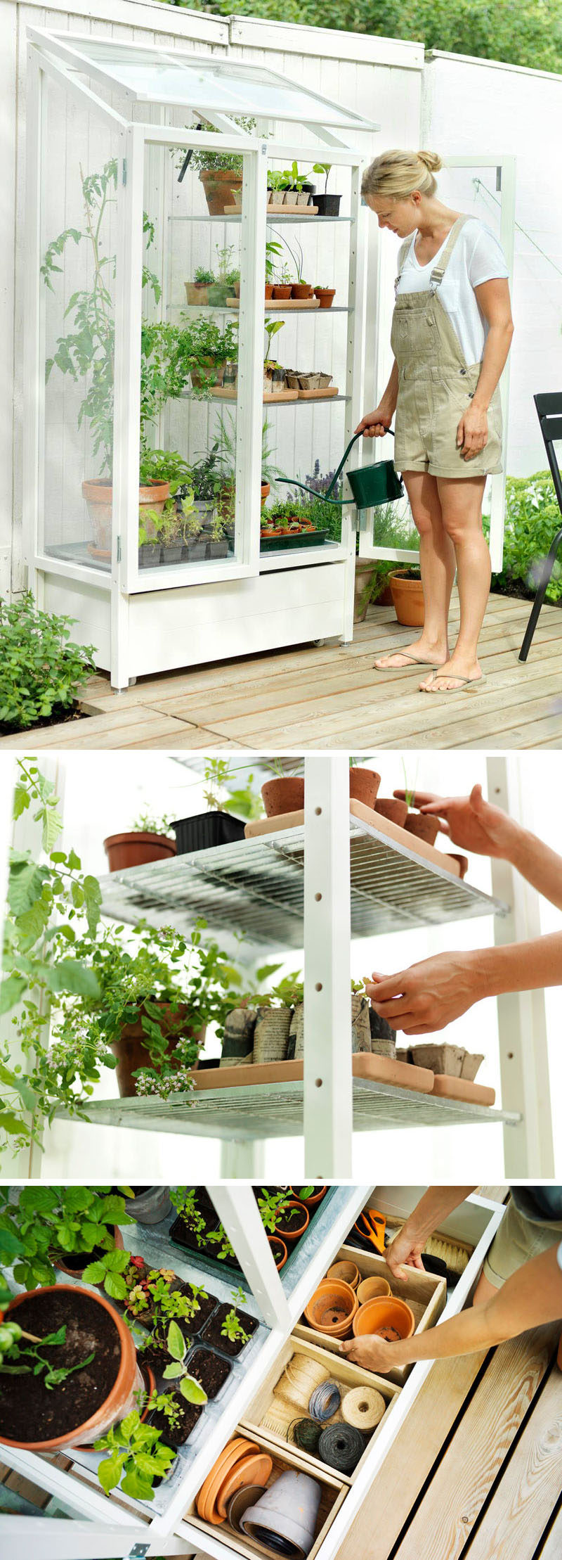 These customizable garden shelves enable to become a master gardener, or at the very least, help you look like one.