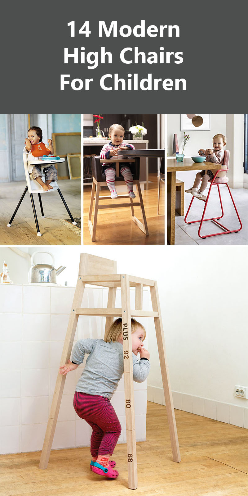 modern high chairs for children  contemporist - get the contemporist daily email newsletter – sign up here  modern highchairs
