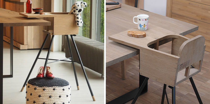 14 Modern High Chairs For Children // This minimal high chair made from wood & 14 Modern High Chairs For Children | CONTEMPORIST