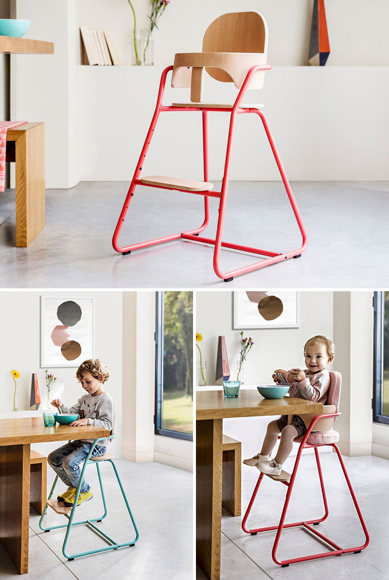 14 Modern High Chairs For Children // A simple chair that can be left as  sc 1 st  Contemporist & 14 Modern High Chairs For Children | CONTEMPORIST
