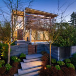 Timber Slats Cover The Upper Floor Of This Contemporary Home In Vancouver
