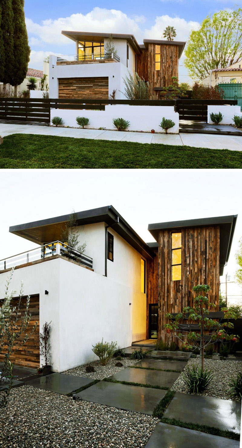 Front Elevation Slanting Roof Design : Examples of modern houses with a sloped roof contemporist