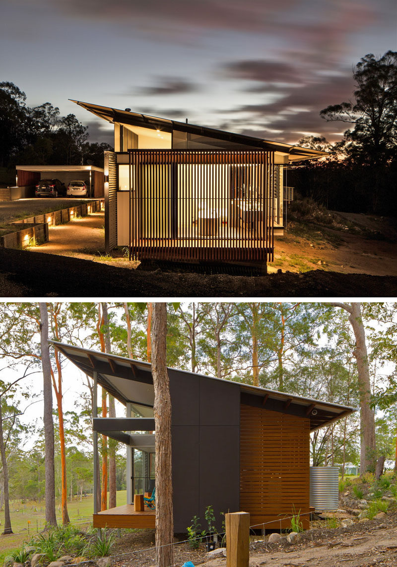 16 examples of modern houses with a sloped roof contemporist - Modern house designs with attic ...