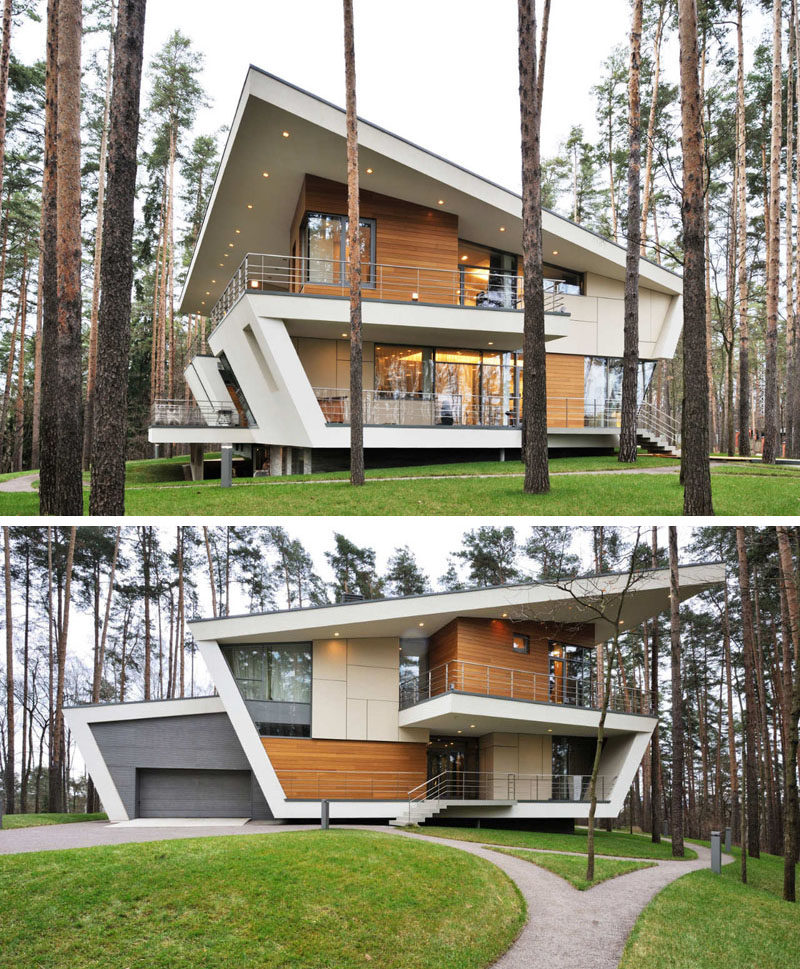Sloped Roofs On This Modern House Match The Rest Of The Lines Used On The  Exterior To Create A Futuristic Looking Home.