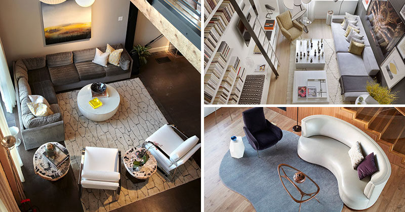Marvelous Interior Design Ideas   17 Modern Living Rooms As Seen From Above