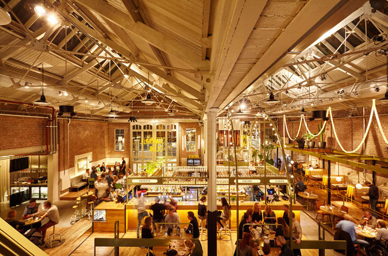 This tram depot in Amsterdam has been transformed in to a restaurant and bar.
